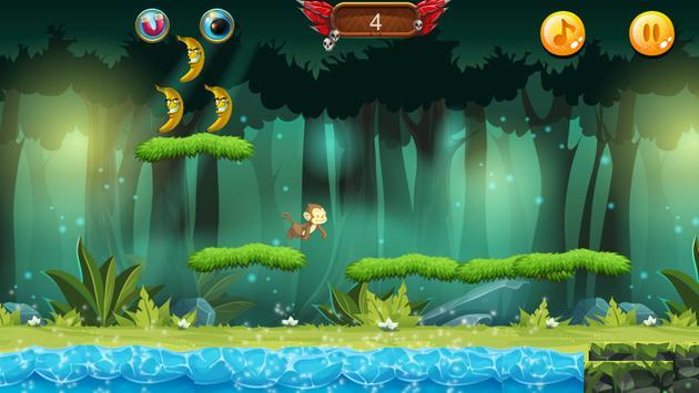 Curious jungle Banana Monkey kong Run screenshot 7