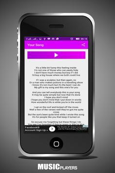 Elton John Your Song apk screenshot