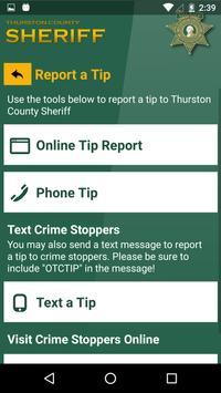 Thurston County Sheriff screenshot 1