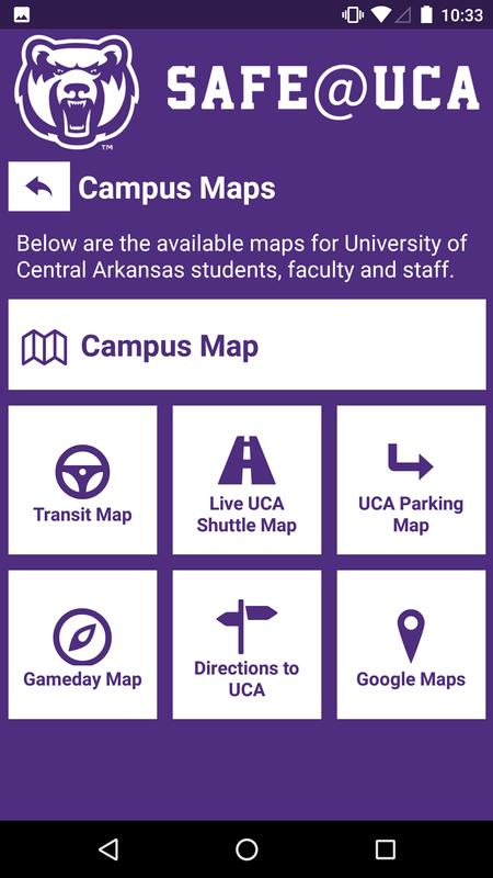 University Of Central Arkansas Campus Map.Safe Uca For Android Apk Download