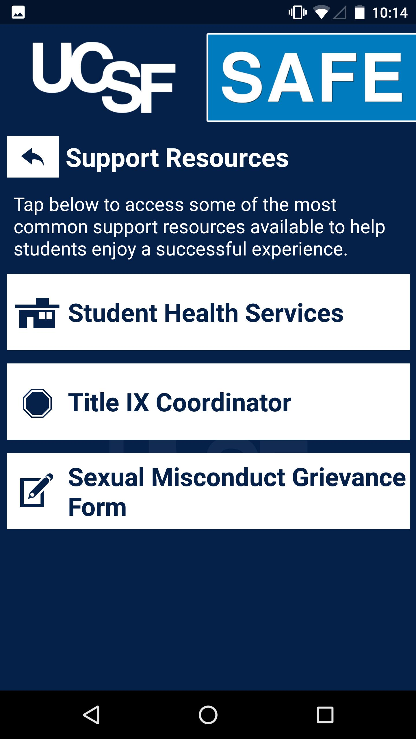 UCSF Safe for Android - APK Download