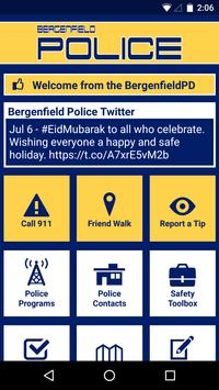Bergenfield Police Department poster