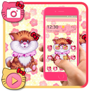 APK Tema rosa carino di gattino