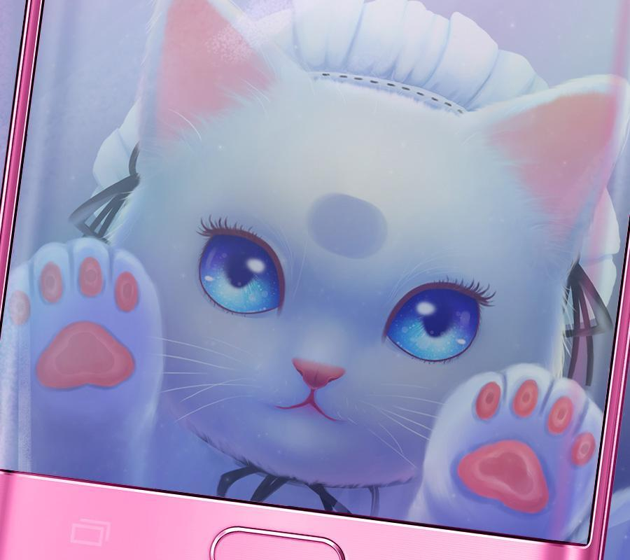 Cute Cat Cartoon Kawaii Theme For Android Apk Download