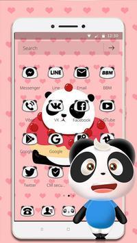 Cute Cartoon Panda Theme screenshot 1