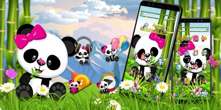 cute eating bamboo baby panda theme for android apk download