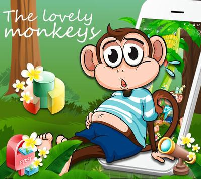 Cute Banna Monkey Theme screenshot 7