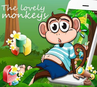 Cute Banna Monkey Theme poster