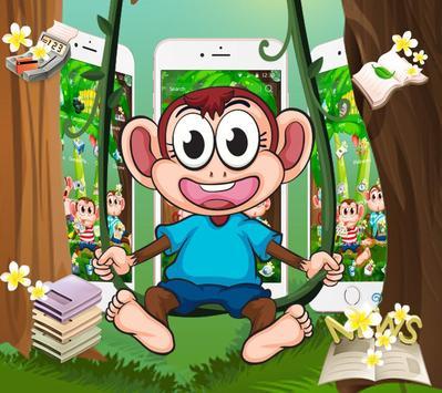 Cute Banna Monkey Theme screenshot 2