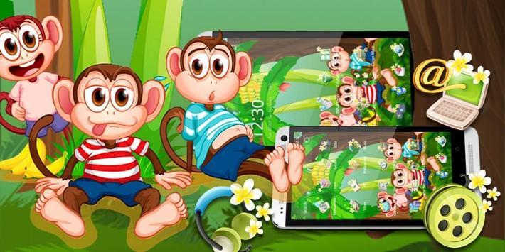 Cute Banna Monkey Theme screenshot 3