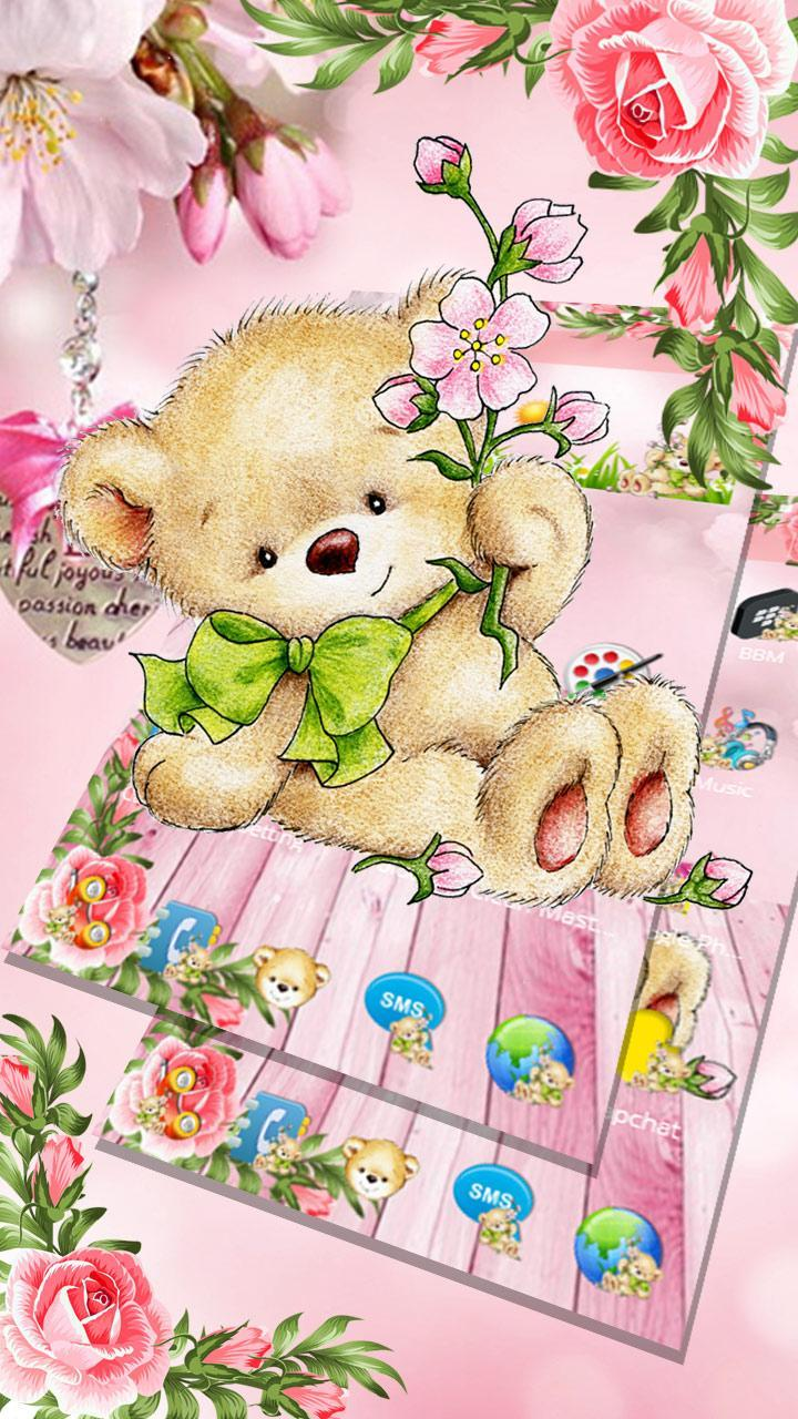 Tema Cute Brown Teddy Bear For Android Apk Download