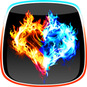 Fire and Ice Live Wallpaper icon