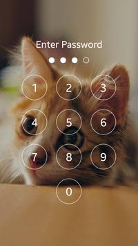 Cute Kitten Cat Lock Screen apk screenshot