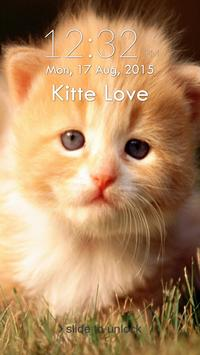 Cute Kitten Cat Lock Screen poster