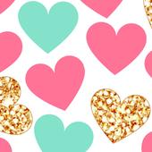 cute hearts wallpaper icon