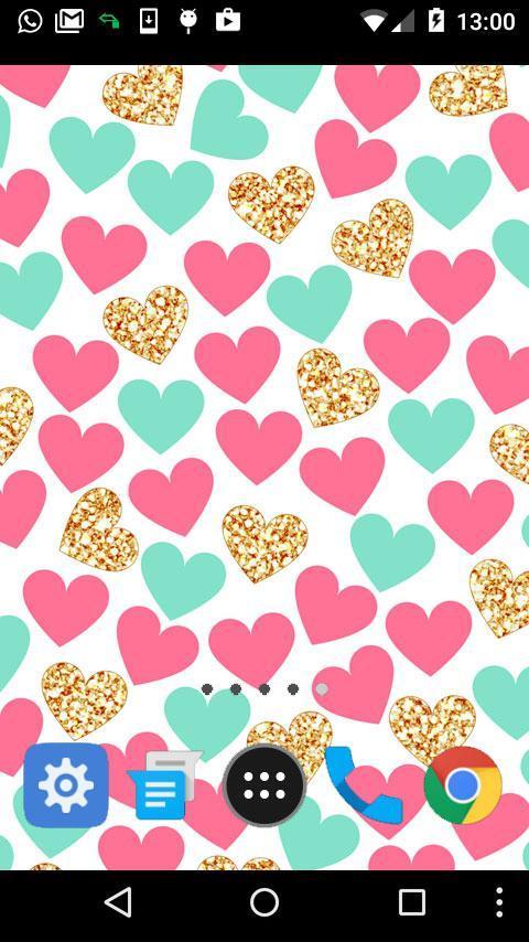 cute hearts wallpaper poster