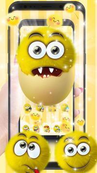 Cute Smile Emoji poster