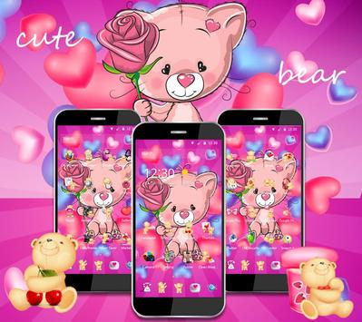 Cute Pink Bear Theme screenshot 7