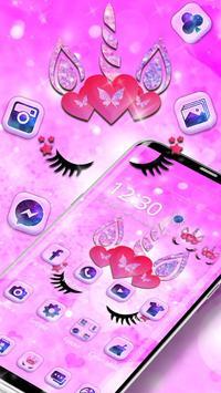 Cute pink unicorn screenshot 2
