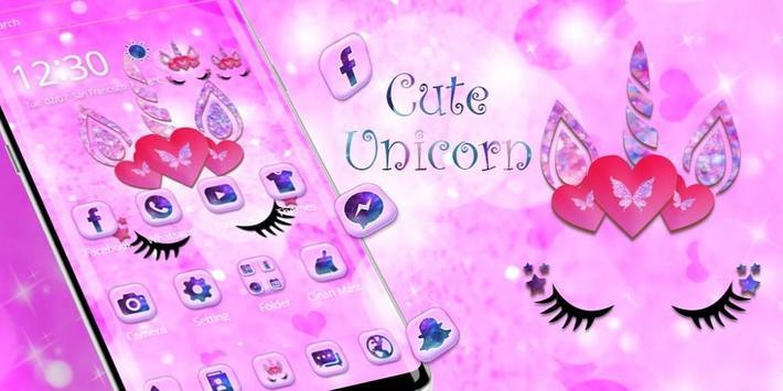 Cute pink unicorn screenshot 3