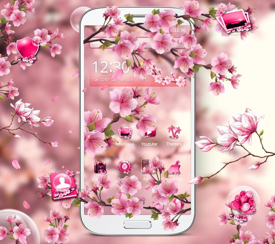 Cute Pink Cherry Blossom Theme for Android - APK Download