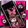 Icona Tema di ragazza rosa carino