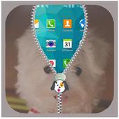Cute Puppy Lock Screen Zipper icon