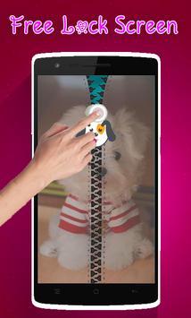 Cute Puppy Lock Screen Zipper poster