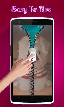 Cute Puppy Lock Screen Zipper screenshot 1