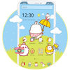 Icona Cute Rabbit Cartoon Theme