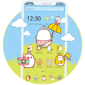 Cute Rabbit Cartoon Theme icon