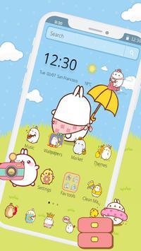 Cute Rabbit Cartoon Theme poster