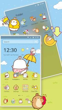 Cute Rabbit Cartoon Theme screenshot 1