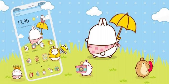 Cute Rabbit Cartoon Theme screenshot 3
