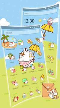 Cute Rabbit Cartoon Theme screenshot 6