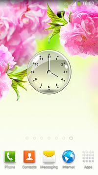Transparent Clock Widget poster