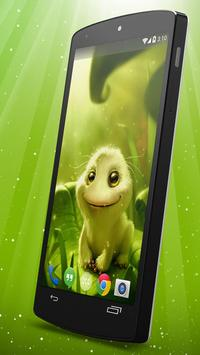 Cute Alien Live Wallpaper apk screenshot