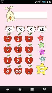 Cute Rabbit Calculator poster