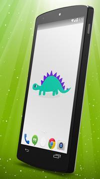 Cute Dinosaur Live Wallpaper screenshot 1