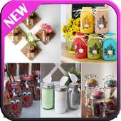 Cute diy mason jars icon