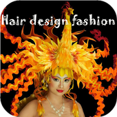 Hair design fashion icon