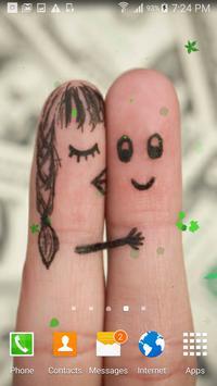 Cute love fingers wallpaper apk screenshot