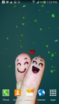 Cute love fingers wallpaper poster