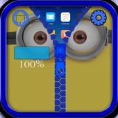 Yellow Minion Zipper Lock Screen icon