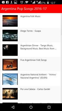 Argentina Pop Songs 2016 apk screenshot