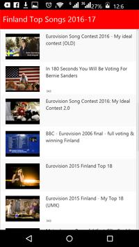 Finland Top Songs 2016 apk screenshot