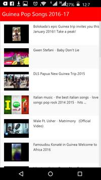 Guinea Pop Songs 2016 apk screenshot