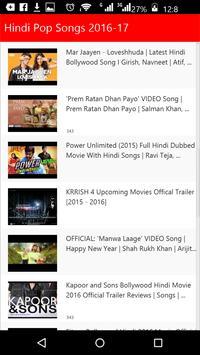Hindi Top Songs 2016 screenshot 2