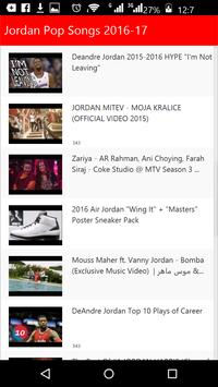 Jordan Top Songs 2016 apk screenshot