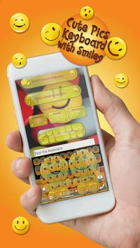 Cute Pics Keyboard with Smiley poster